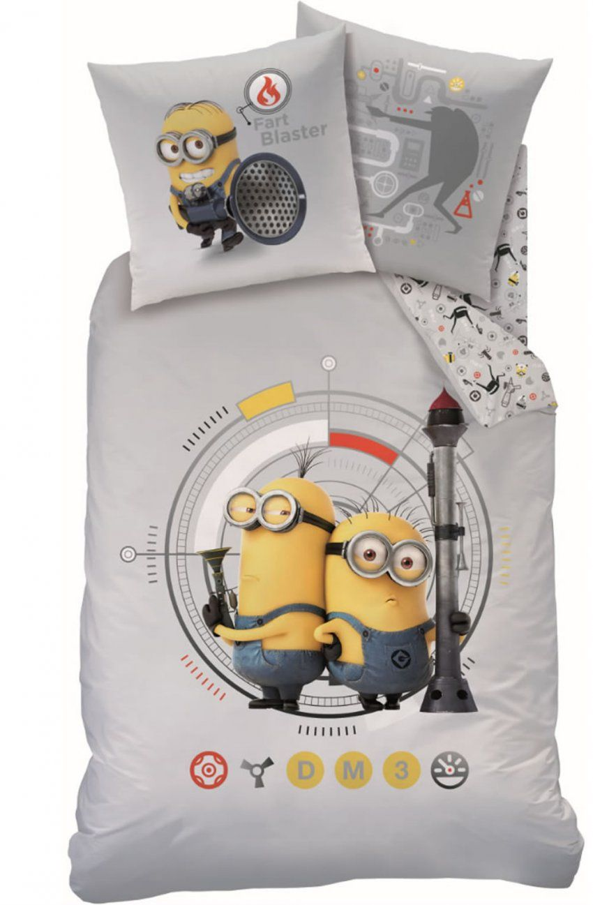 Minions Bed Linen Flanel With Reversible Motif Rocket Online At Papiton von Biber Bettwäsche Minions Photo