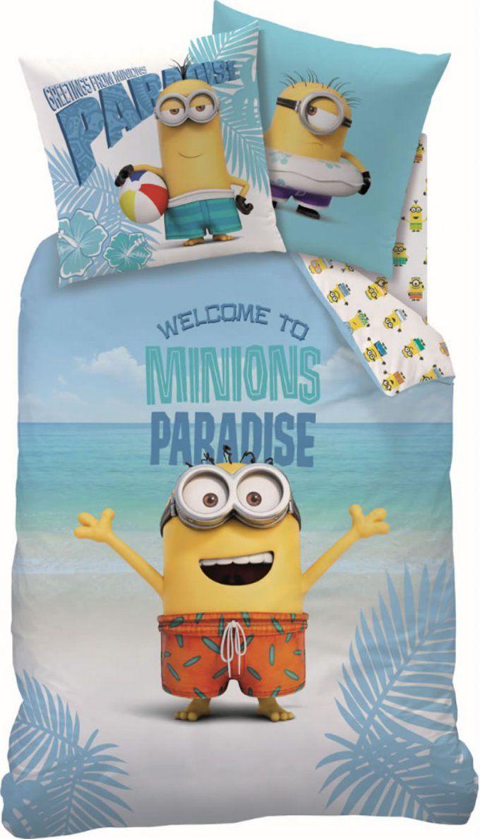 Minions Bettwäsche Paradise Bei Papiton Bestellen von Minions Bettwäsche Real Bild