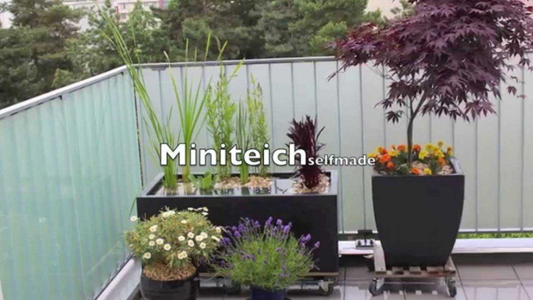 Miniteich Beispiel Zum Selber Machen  Youtube von Balkon Brunnen Selber Bauen Bild