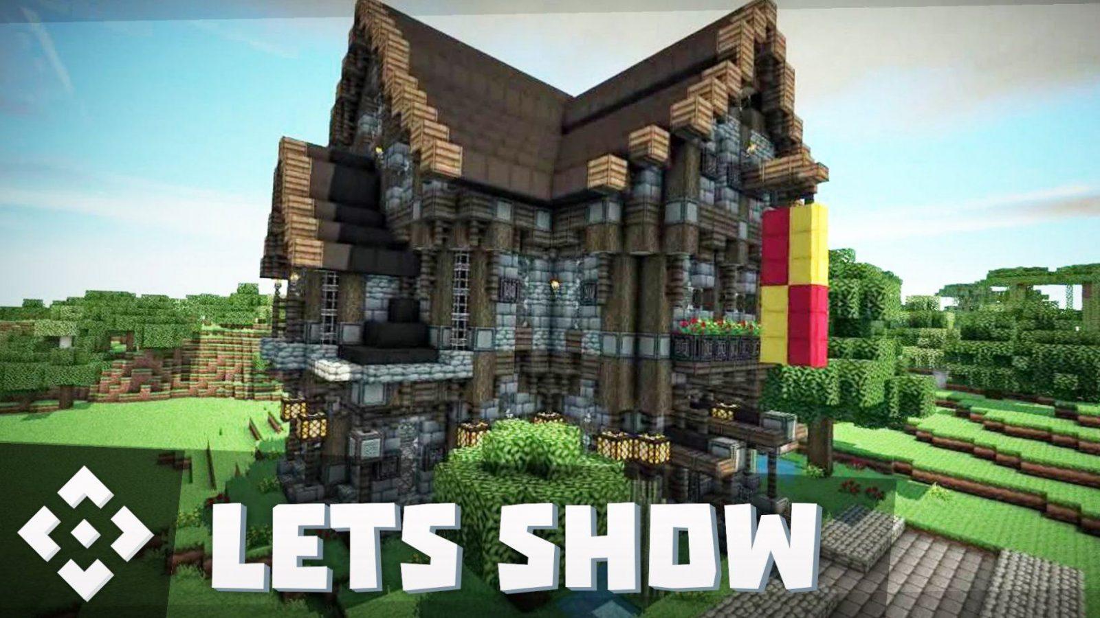 Mittelalter Haus  Villa Bauen + Download ☆ Minecraft Lets Show von Minecraft Mittelalter Haus Bauplan Bild