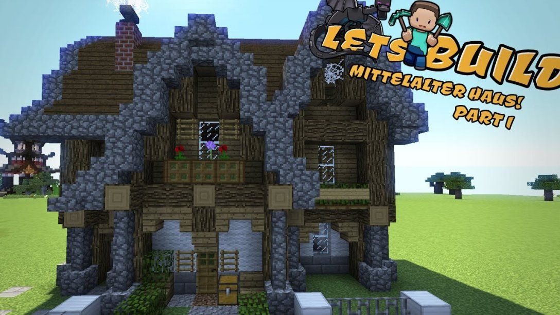 Mittelalterliches Haus Bauen  Minecraft Tutorial  Youtube von Minecraft Mittelalter Haus Bauplan Bild