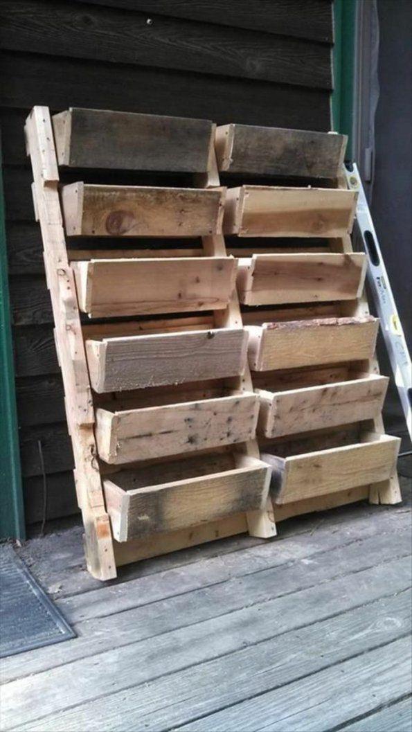 Möbel Aus Paletten Selber Bauen – Inspiration In 40 Bildern von Holz Blumenkasten Selber Bauen Bild