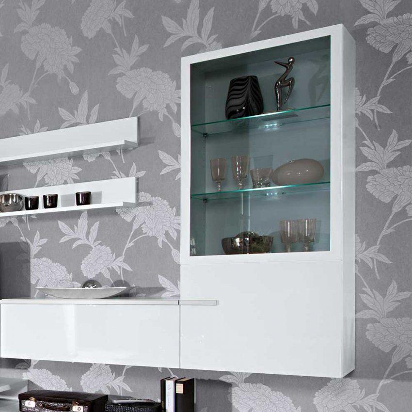 Möbel Überraschend Hängeschrank Weiß Hochglanz Wohnzimmer Gestaltung von Hängeschrank Wohnzimmer Weiß Hochglanz Photo