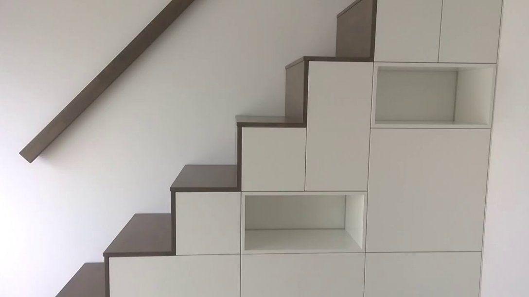 Möbeltischlerei Sekulum  Schrank Mit Treppe 201605  Youtube von Regale Unter Der Treppe Bild