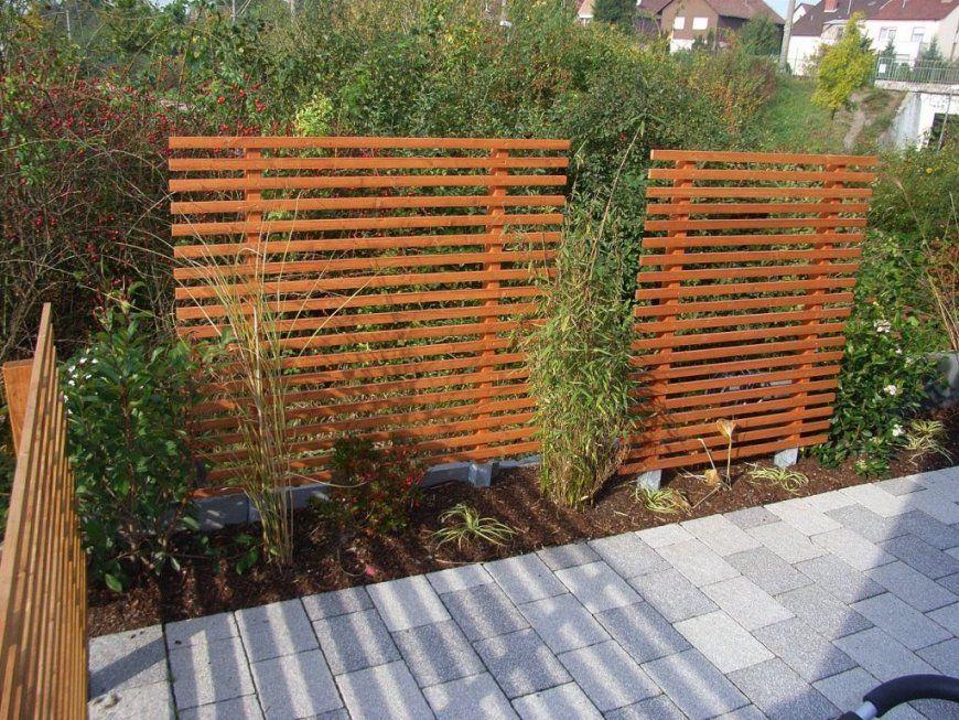 Mobiler Sichtschutz Garten Selber Bauen  Wiiwohn Best Garten Ideen von Sichtschutzzaun Holz Selber Bauen Photo