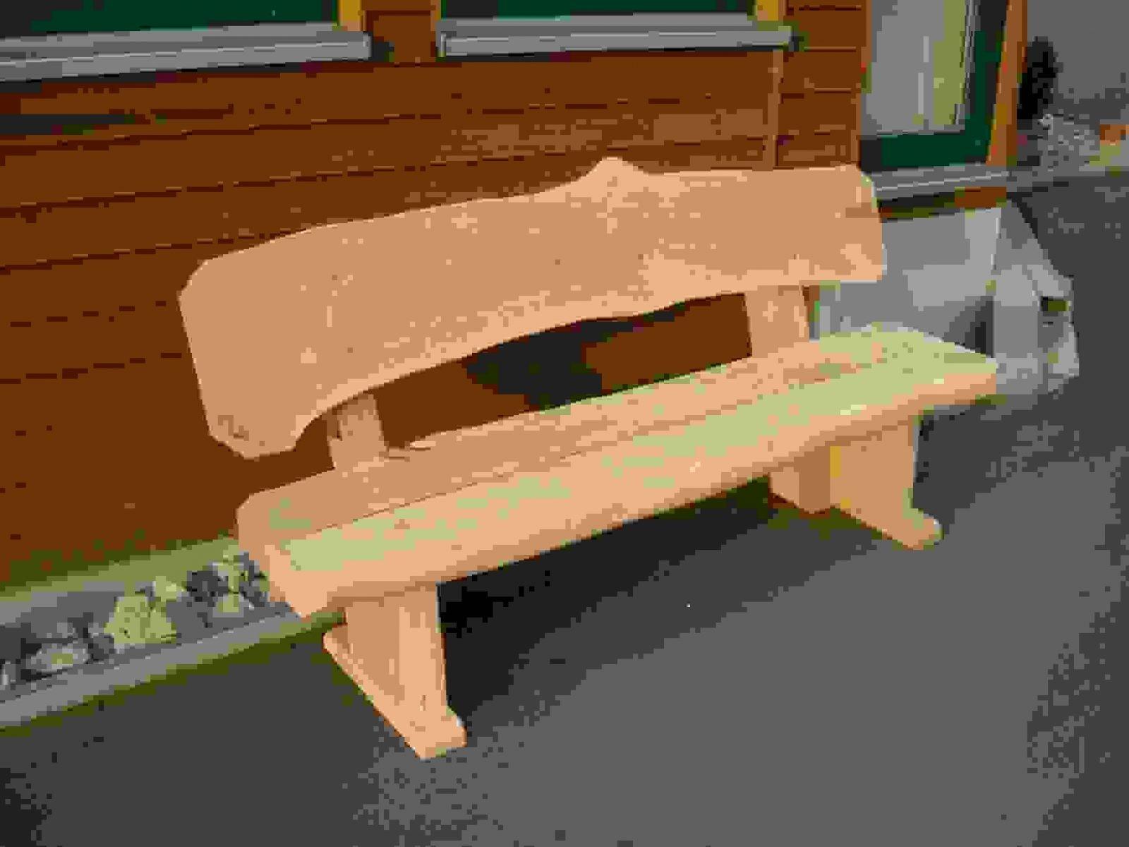 Modern Gartenbank Holz Massiv Rustikal – Kartaginafo Für Von von Rustikale Gartenbank Aus Baumstämmen Photo