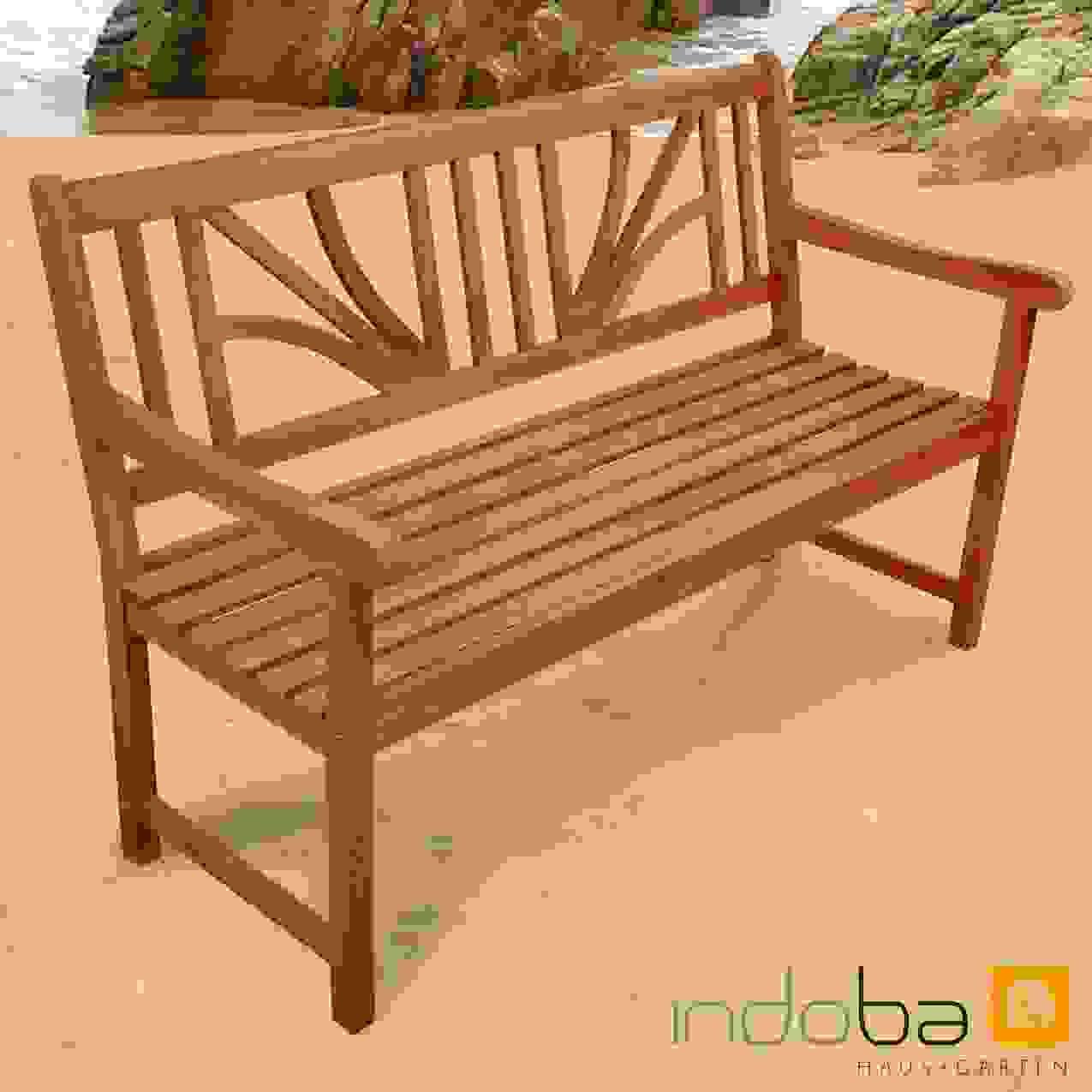 Modern Gartenbank Sitzbank Holzbank Bank 2 Sitzer 3 Sitzer Zum Von von Gartenbank Eukalyptus 2 Sitzer Holzbank Bild