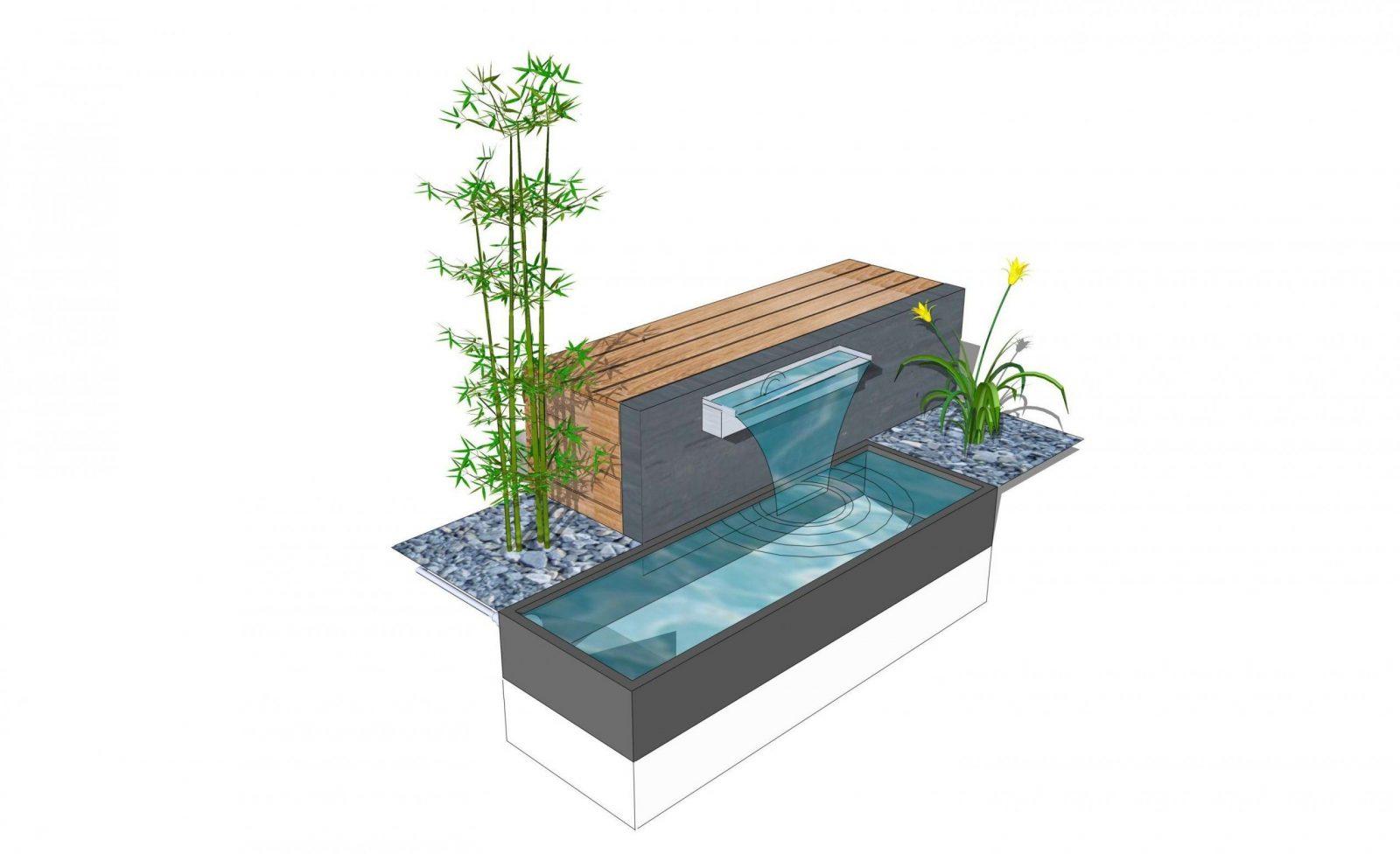 Moderne Gartengestaltung Mit Wasserbecken Wasserbecken Eine Verl von Moderne Wasserspiele Für Den Garten Photo