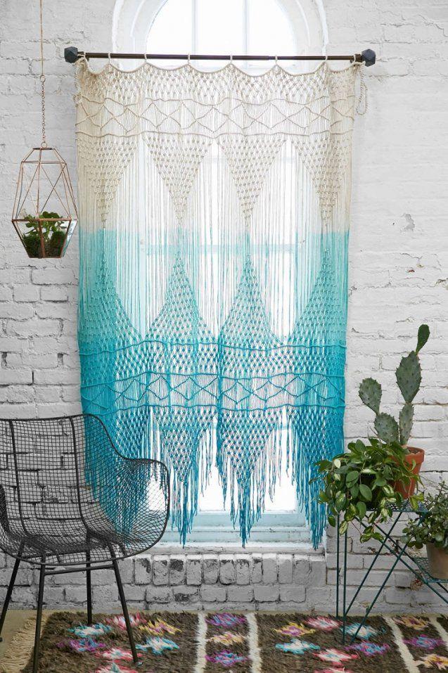 Moderne Häkelgardinen Für Romantischen Touch  30 Ideen von Gardinen Weiß Türkis Bild