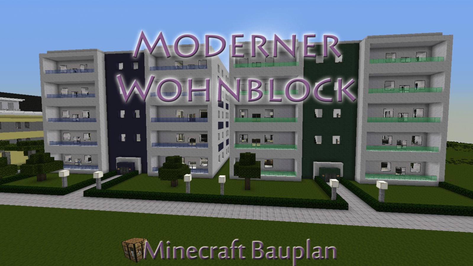 Moderne Häuser Minecraft Bauplan Mit Moderner Wohnblock Mulenja Co von Minecraft Villa Modern Bauplan Bild