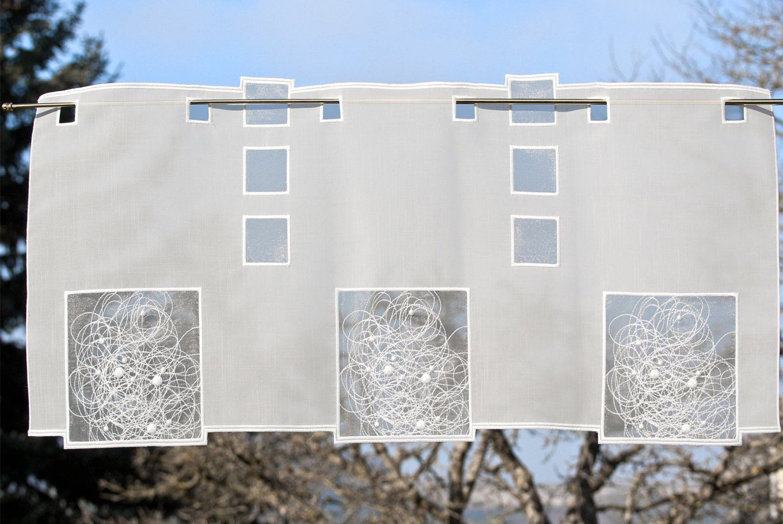 Moderne Kurzgardinen Schneeballspitze Plauener Spitze Scheibengardinen von Gardinen Spitze Modern Bild