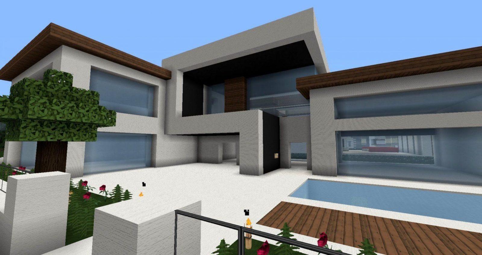 Moderne Minecraft Häuser Wolkenkratzer  Modernes Haus  Best von Minecraft Villa Modern Bauplan Bild