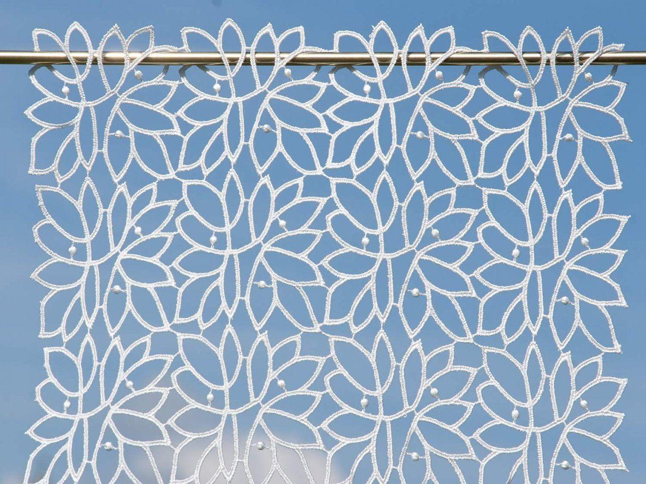 Moderne Scheibengardine  Plauener Spitze Preiswert Kaufen von Kurzgardinen Plauener Spitze Photo