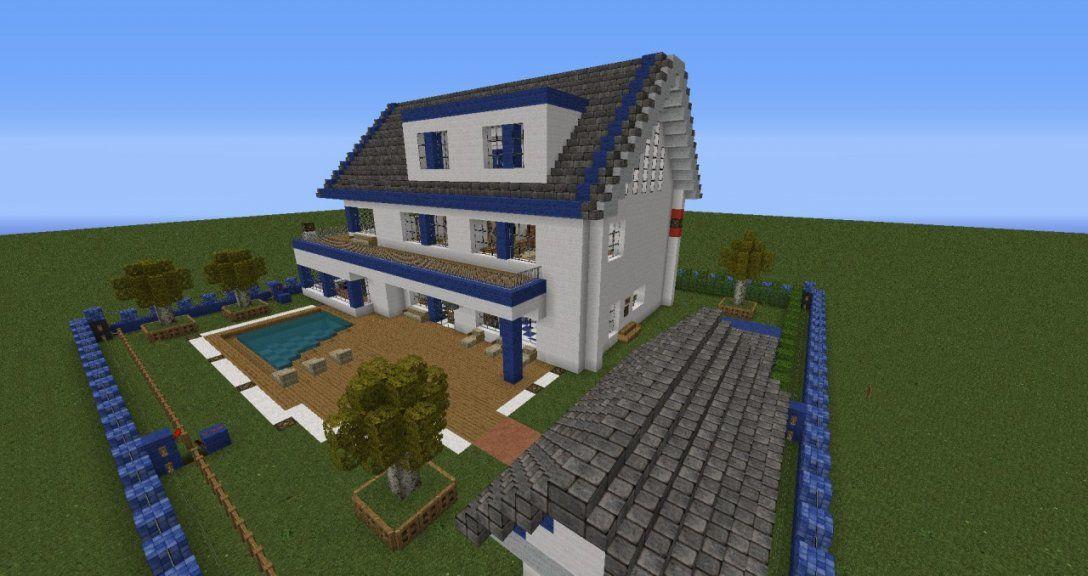 Moderne Villa Mit Alarmanlage Minecraft Project von Minecraft Modernes Haus Download Photo