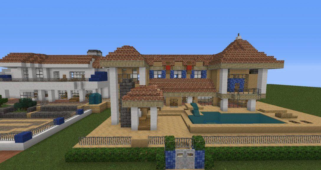 Moderne Villa Mit Redstonetechnik Minecraft Project von Minecraft Villa Bauen Anleitung Bild