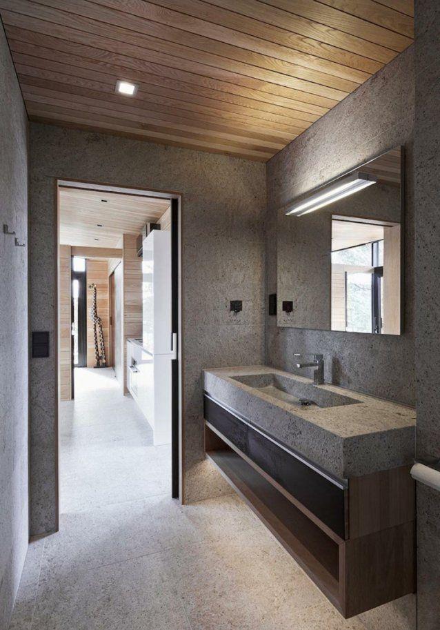 Modernes Bad Mit Holz 27 Ideen Für Möbel Boden Wand & Decke von ...