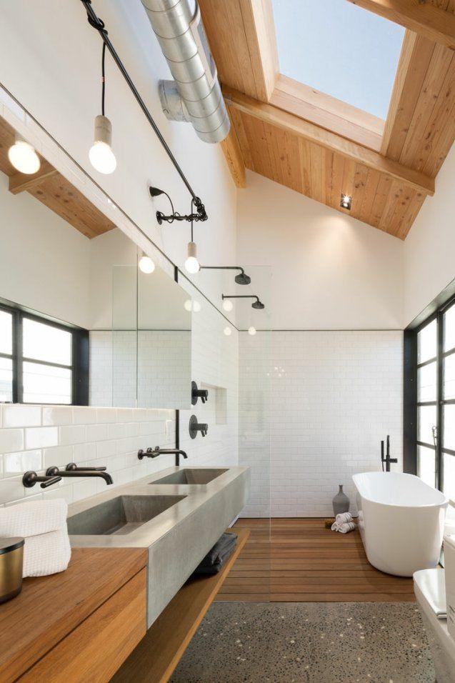 Modernes Bad Mit Holz  27 Ideen Für Möbel Boden Wand & Decke von Moderne Bäder Mit Holz Bild