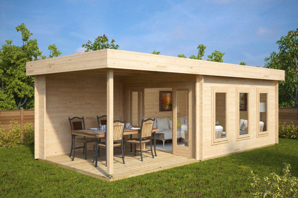 Modernes Gartenhaus Mit Terrasse Jacob E 12M²  44Mm  3X7 von Moderne Gartenhäuser Aus Holz Photo