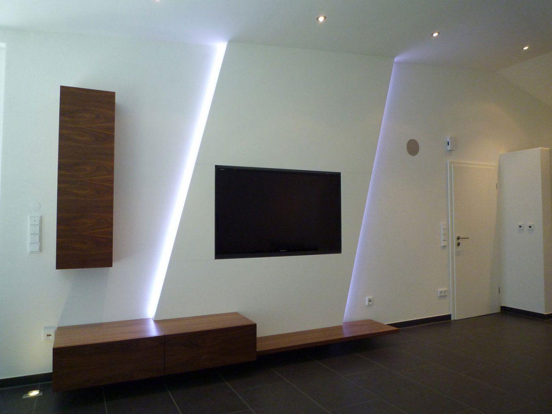 Modernes Haus Schönes Wohnen Tv Wand Selber Bauen Holz With Avec von Tv Wand Selber Bauen Anleitung Photo