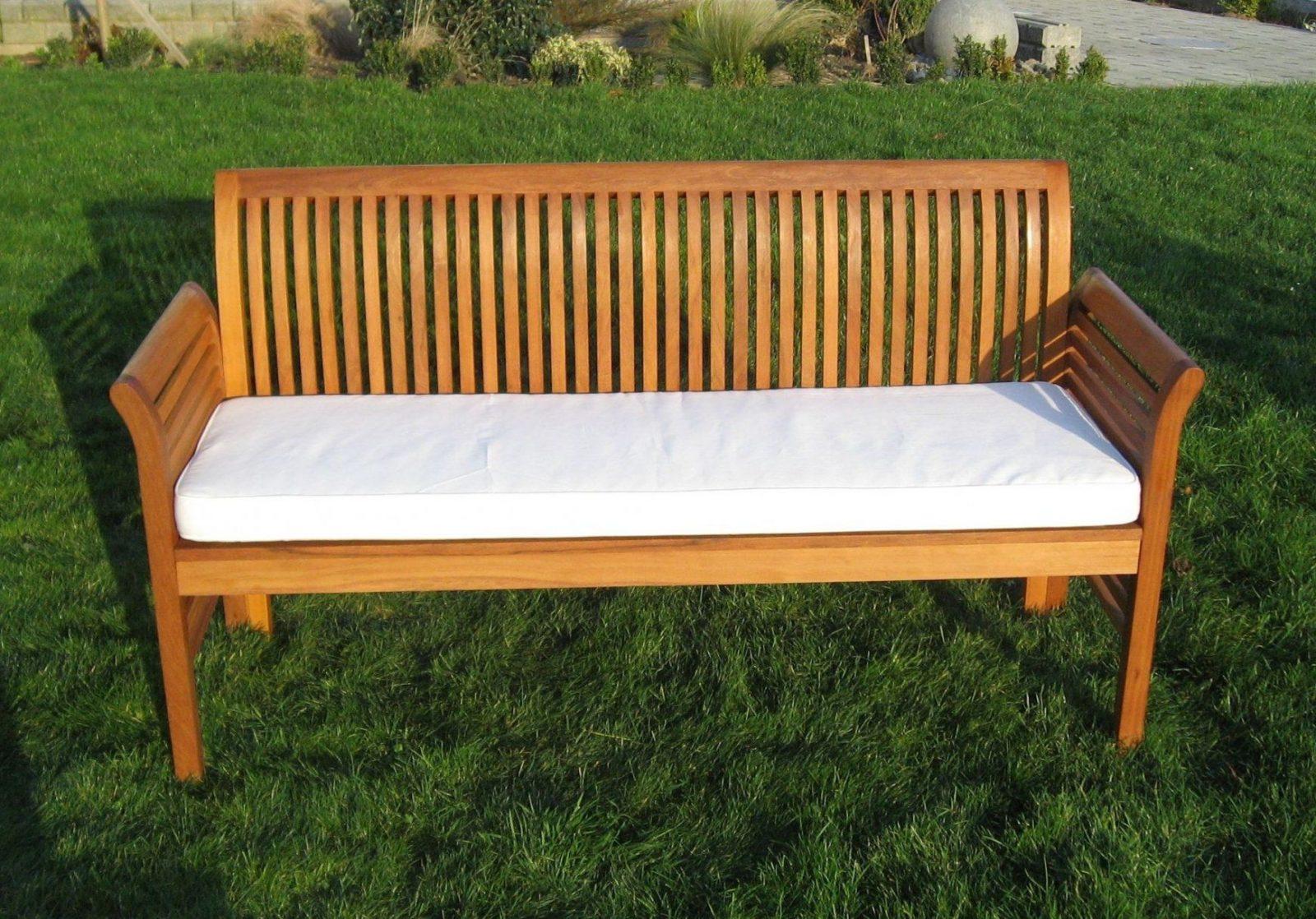 Moebelpartner 4Sitzer Gartenbank Aus Eukalyptusholz Fsc Mit von Gartenbank Holz 4 Sitzer Bild