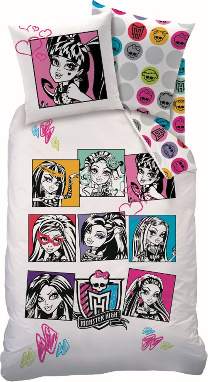 Monster High Bettwaesche Set  Dibinekadar Decoration von Monster High Bettwäsche Bild
