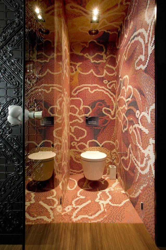 Mosaik Fliesen Fürs Badezimmer  15 Ideen Und Muster von Mosaik Fliesen Muster Ideen Photo