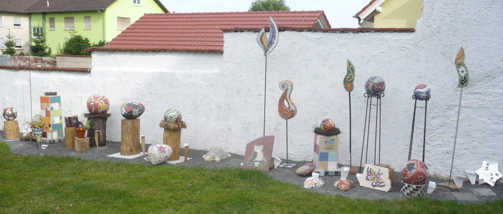 Mosaikkunst  Mosaikhof Werbach von Mosaik Im Garten Selber Machen Photo