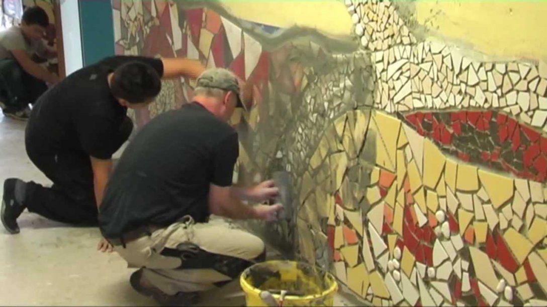 Mosaikprojekt 2011  Clip 2 Die Schulung Künstlerischkreativer von Mosaik Im Garten Selber Machen Bild