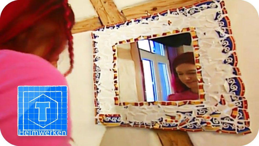Mosaikspiegel  Diy  Tooltown  Youtube von Spiegel Mosaik Selber Machen Bild