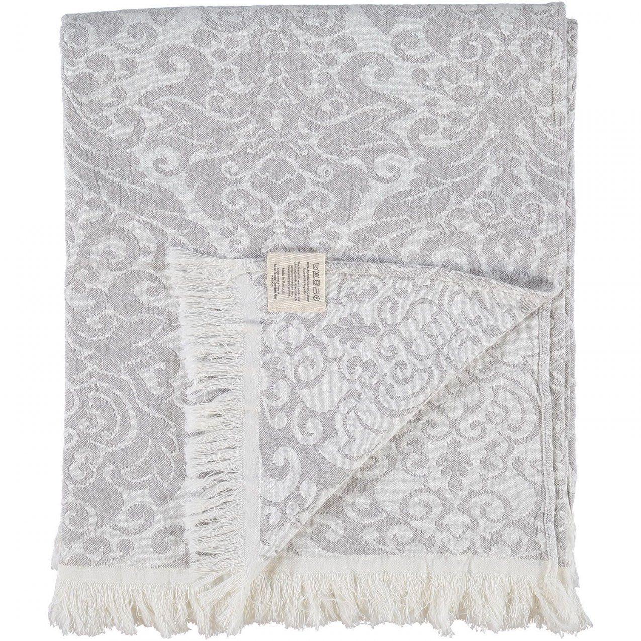 """Mundu"""" Light Grey Floral Motif Linen Blend Throw  Tk Maxx von Tk Maxx Bettwäsche Bild"""