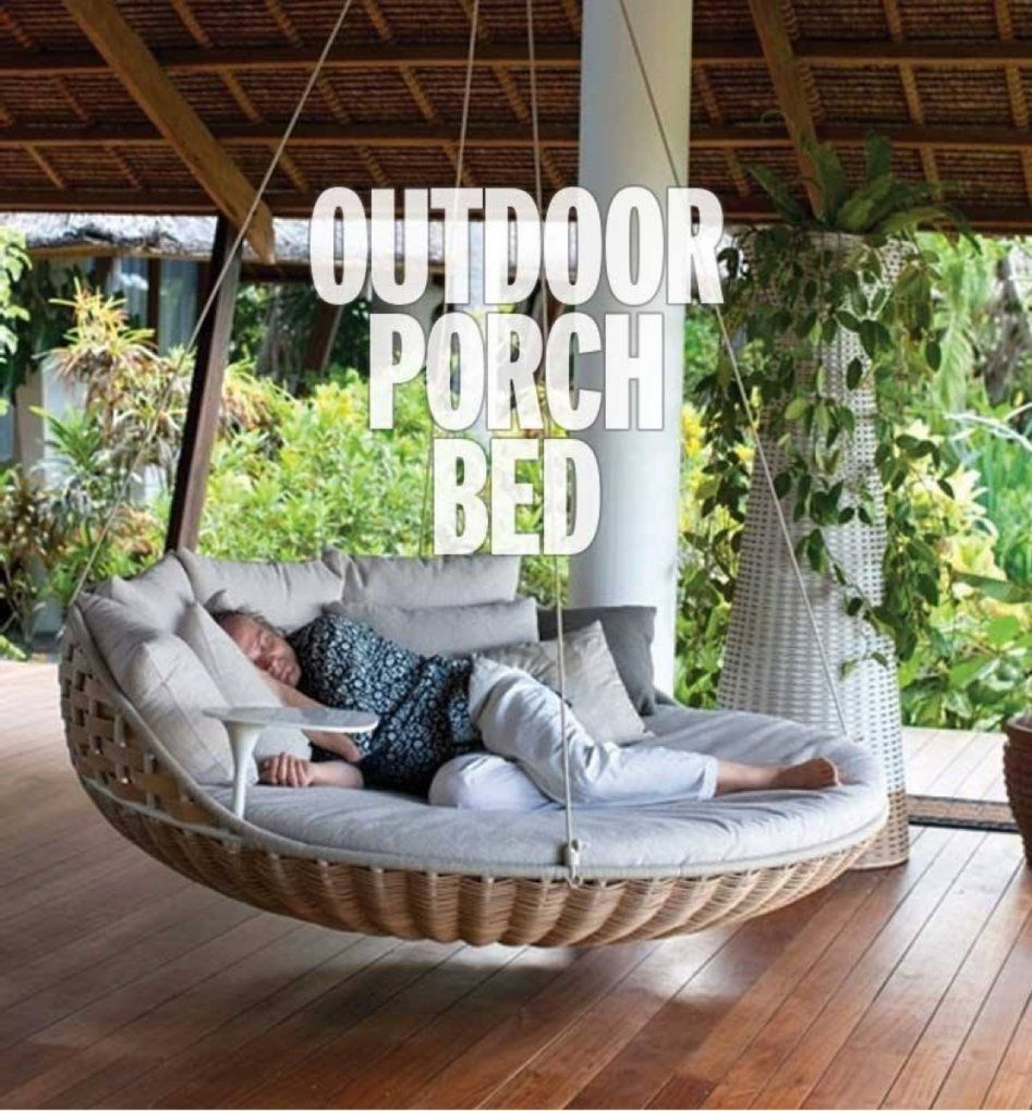 Mutable Hanging Porch Beds Outdoor Porch Beds That Will Make Nature von Round Porch Swing Bed Bild
