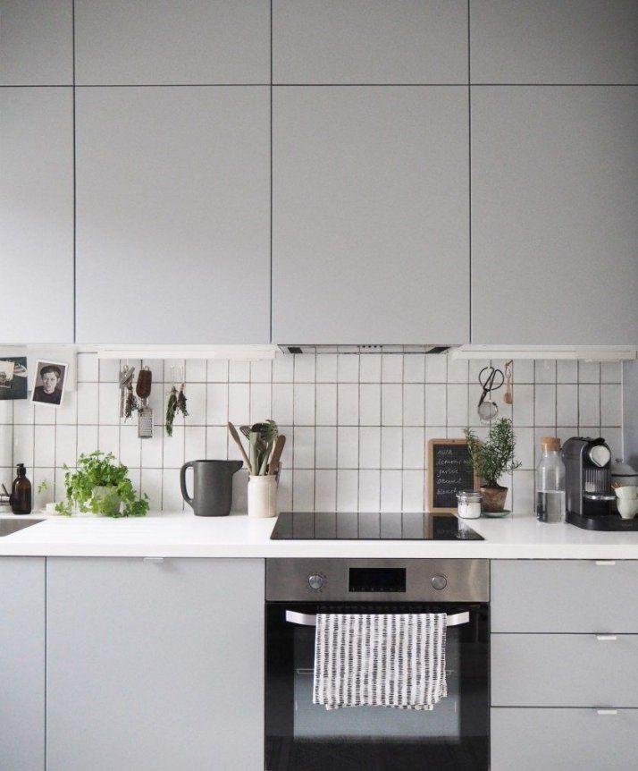 My Ikea Kitchen Makeover  The Transformation  Küche von Ikea Küche Veddinge Grau Photo