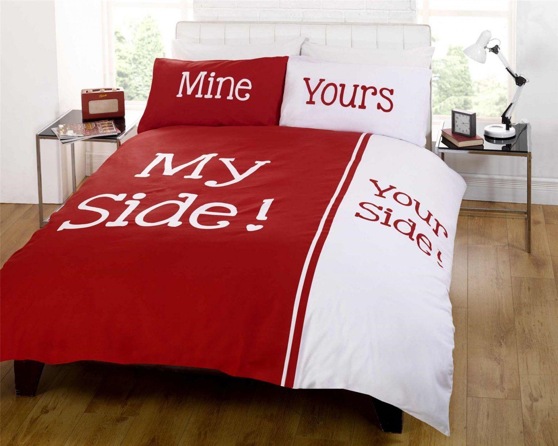 My Side Your Side Bettwäsche  My Blog von Her Side His Side Bettwäsche Bild