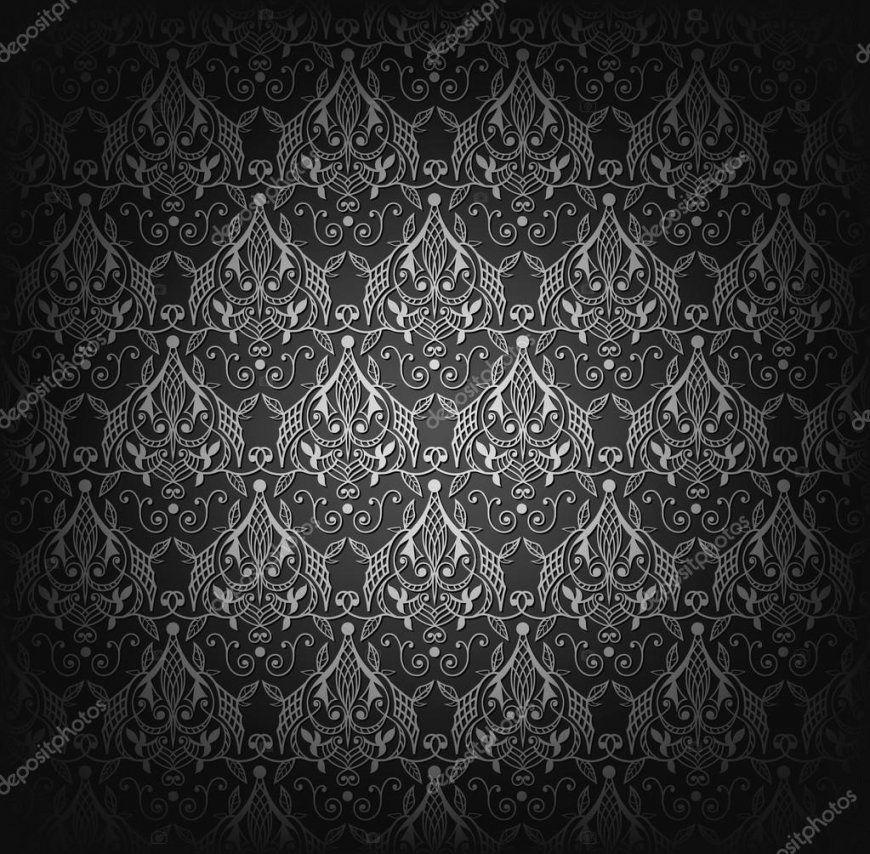 Nahtlose Schwarze Tapete Muster — Stockvektor © Vryabinina 89352304 von Schwarze Tapete Mit Muster Bild