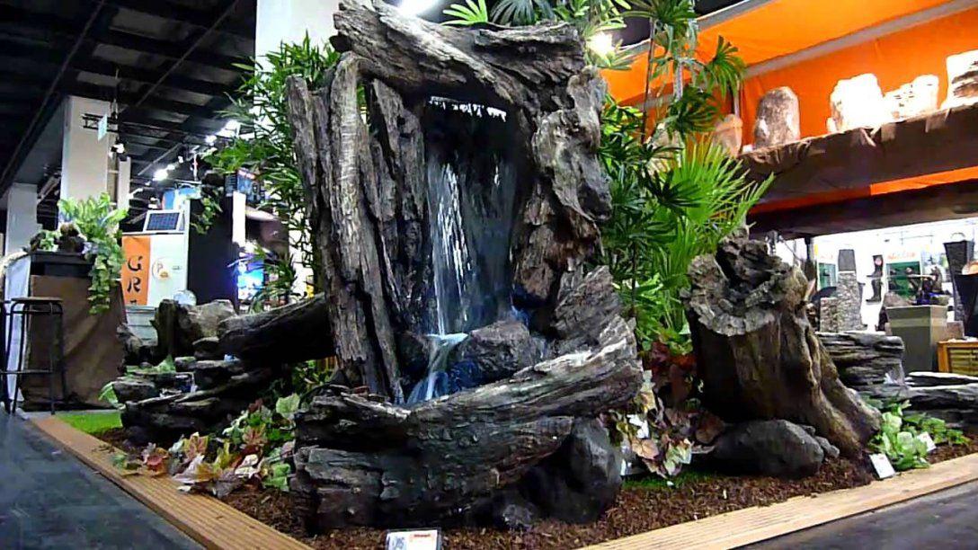 Naturnaher Wasserfall  Youtube von Zimmerbrunnen Wasserfall Selber Bauen Photo