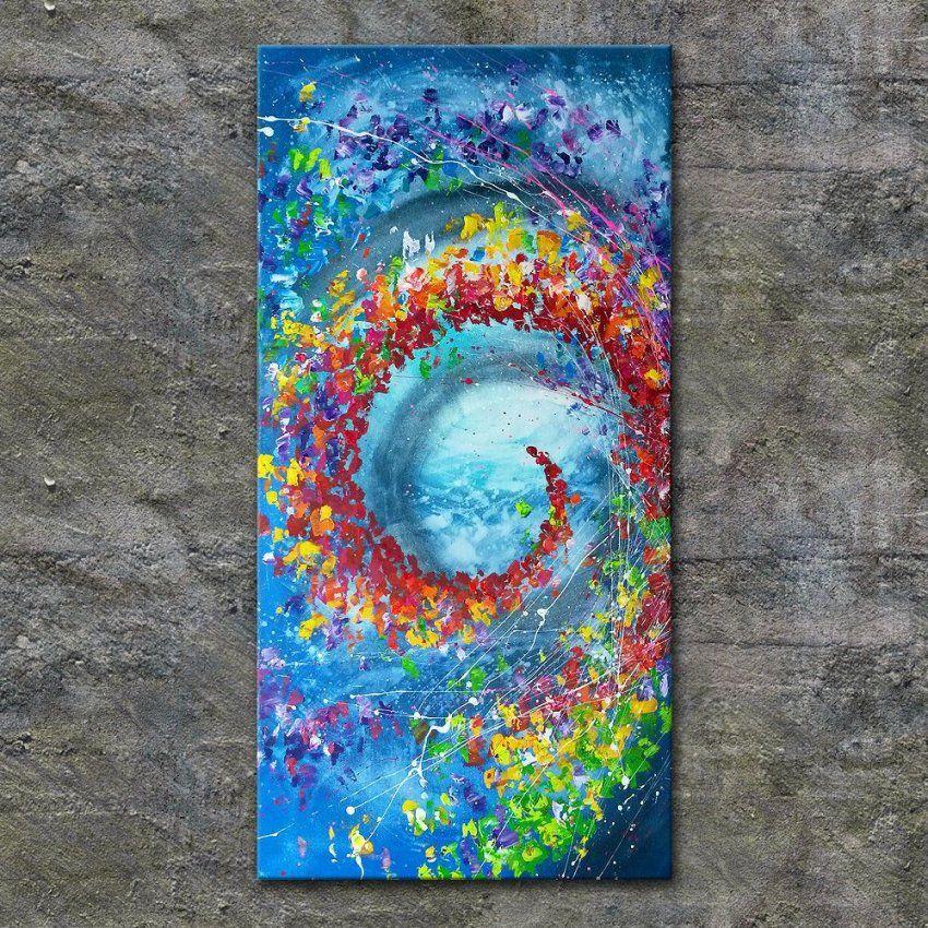 Nettisart Acrylbild Kunst Leinwand Handgemalt Malerei Keilrahmen von Bilder Leinwand Abstrakt Keilrahmen Bild