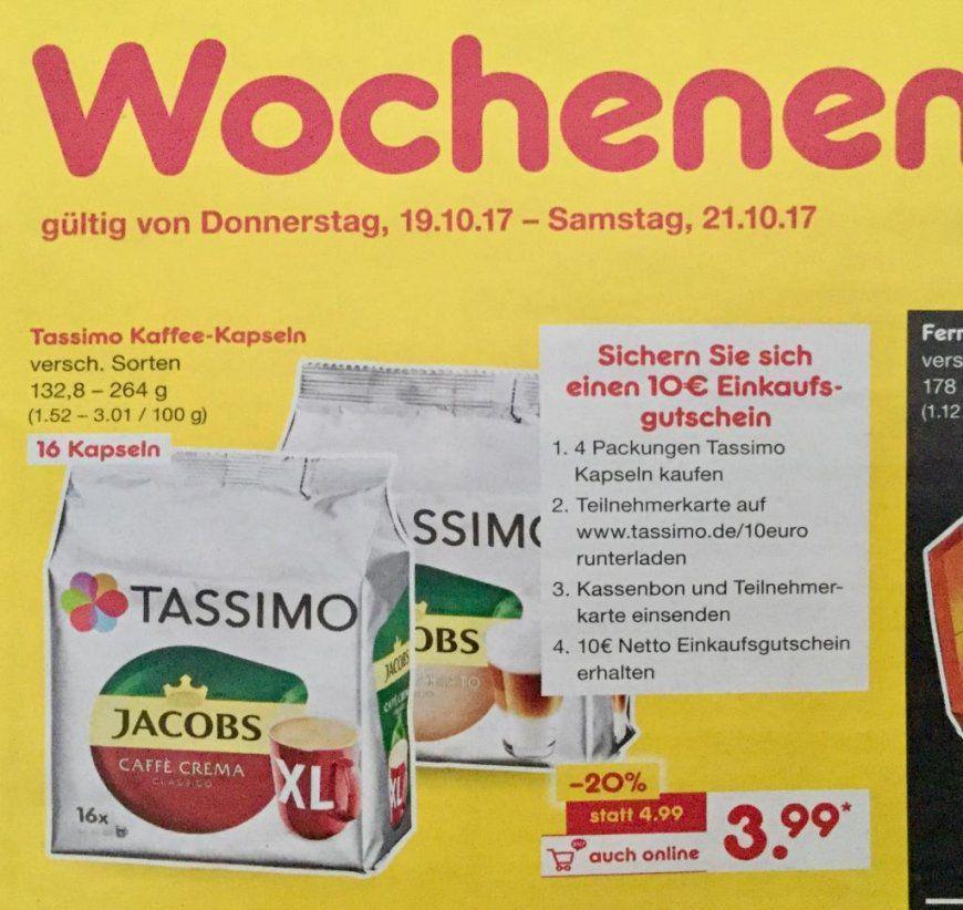 Netto Markendiscount] Tassimokapseln (16 Kapseln) Durch von Senseo Pads Angebot Netto Bild