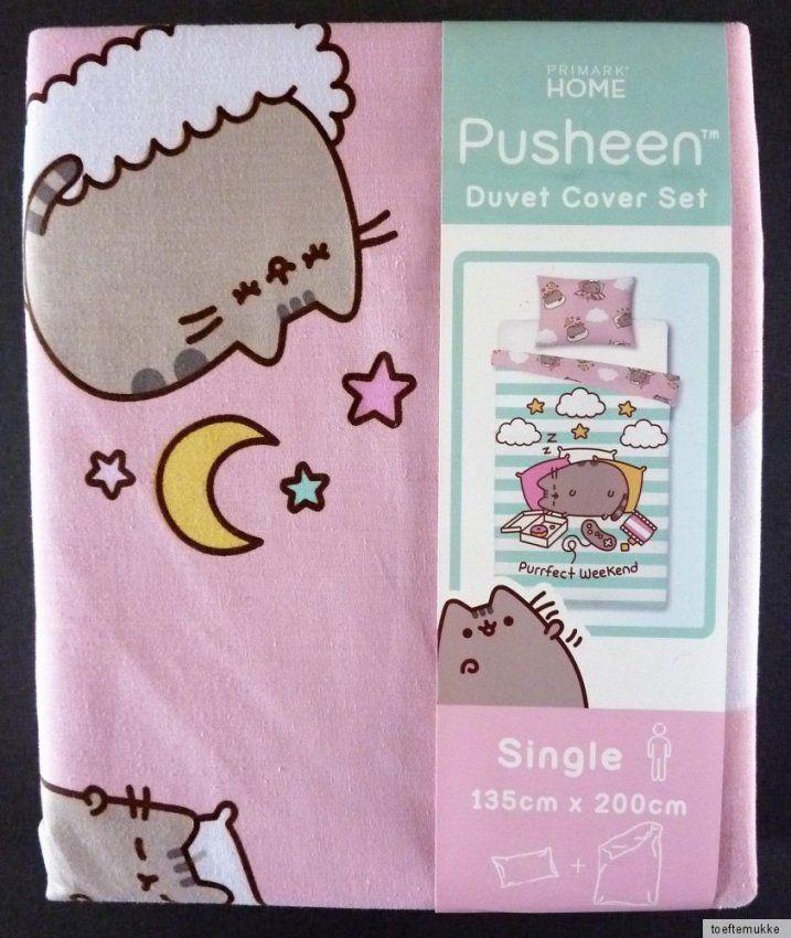 Neu Pusheen The Cat Wendebettwäsche Set Katze Kissen + Decke von Primark Bettwäsche Größe Photo