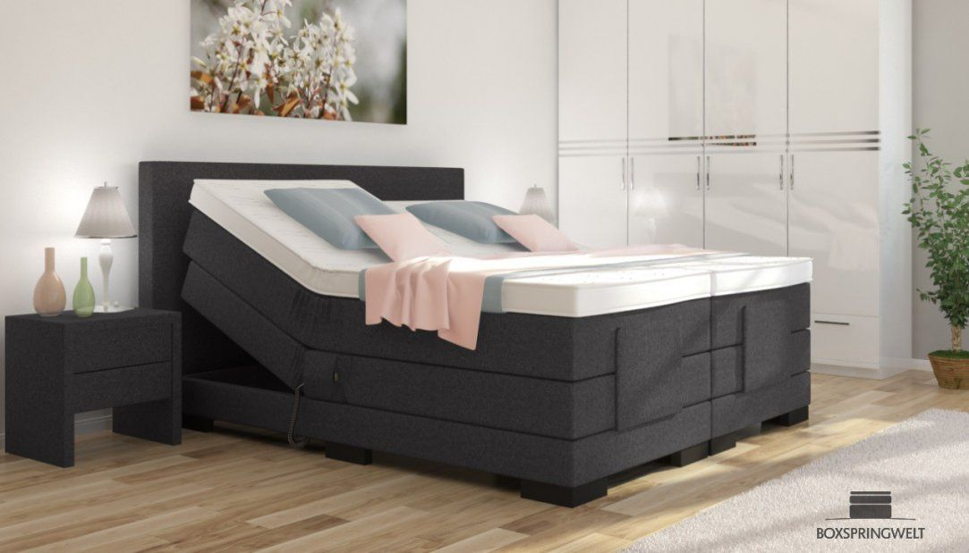 boxspringbett mit elektromotor 180x200 aronia elektro von. Black Bedroom Furniture Sets. Home Design Ideas