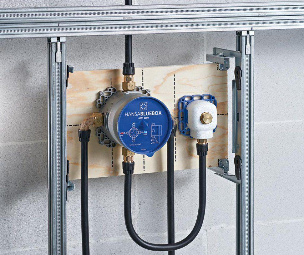 Neues Unterputzanschlusssystem Hansabluebox Verspricht Hohen von Unterputz Armatur Dusche Hansa Photo