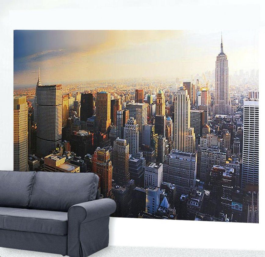 New York Fototapete Skyline Posterbehang Fotobehang Breng Dit Behang von Wandtattoo New York City Photo