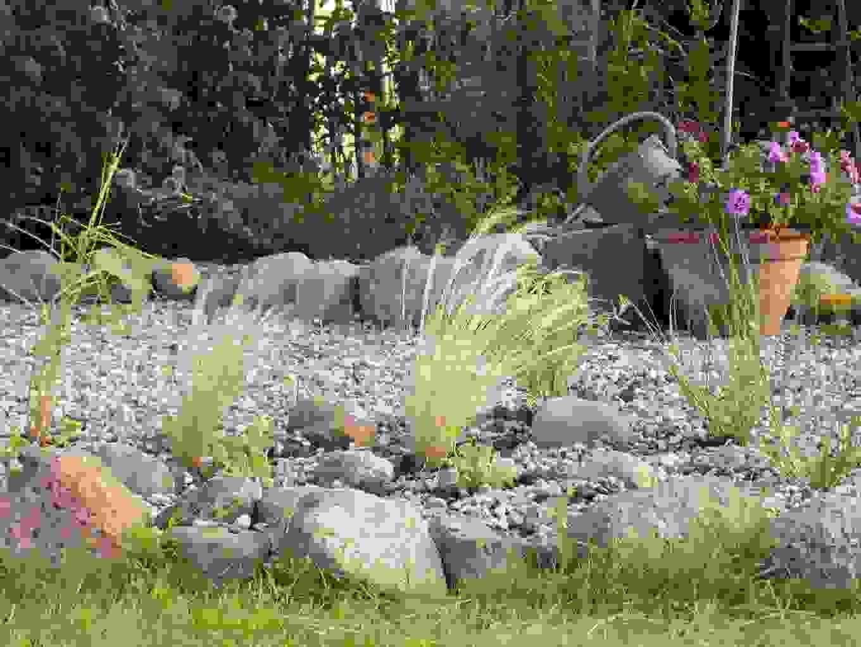 Nordische Romantik Gräserinspiration Vom Parkplatz Von von Gartengestaltung Mit Gräsern Und Kies Photo