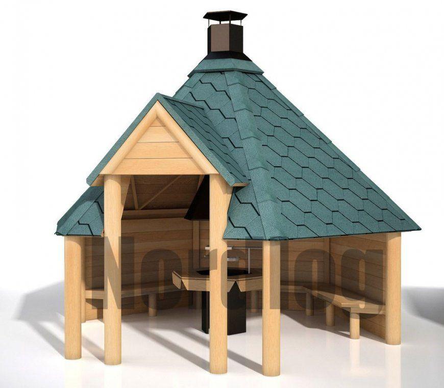 Nordlog Geöffnete Grillkota 92 Grillhaus Grillhütte Pavillon von Grillhütte Selber Bauen Anleitung Photo