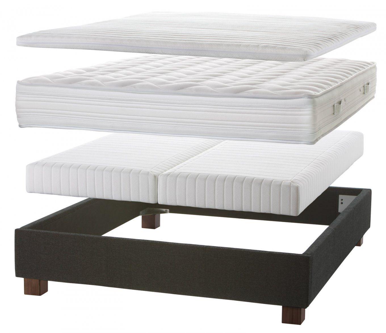 Normales Bett Zum Boxspringbett Umbauen  Einlegesystem Kingston von Bett Umbauen Zum Boxspringbett Bild