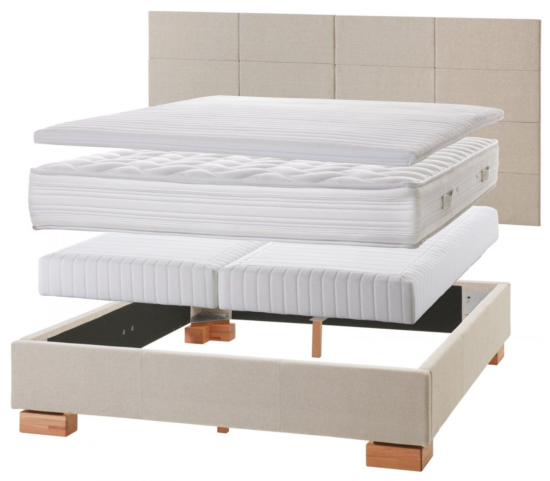 Normales Bett Zum Boxspringbett Umbauen  Einlegesystem Kingston von Boxspringmatratze In Normales Bett Photo