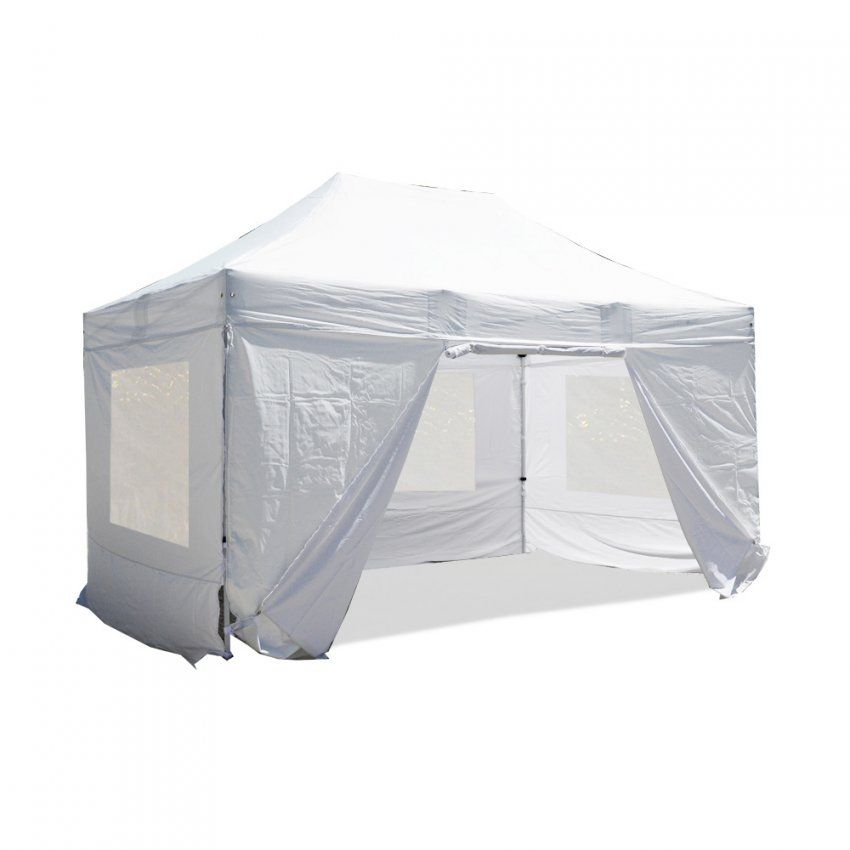 Nur 50900€ Weiß Komplettset Faltpavillon 3X45M Alu 40 (Mit von Faltpavillon 3X4 5 Wasserdicht Bild