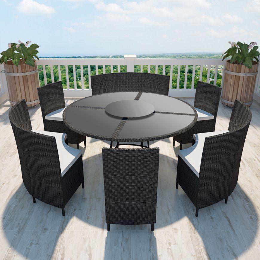 Nur 63211€ Polyrattan 12Personen Runder Tisch Und Stühle Set von Runder Esstisch 8 Personen Bild