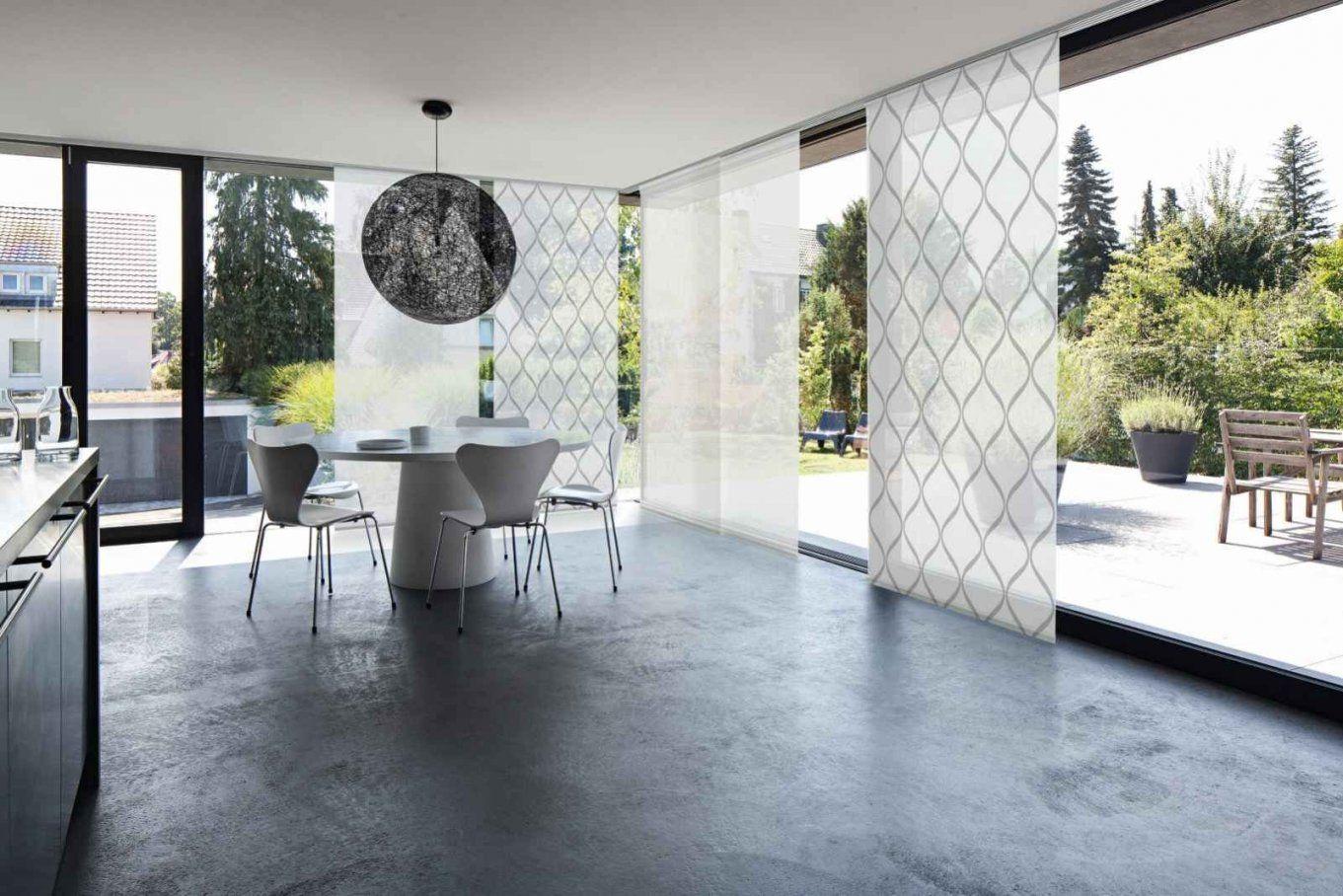 Ob Am Bodentiefen Fenster Oder Als Raumteiler Mhz Flächenvorhänge von Gardinen Ideen Für Bodentiefe Fenster Bild
