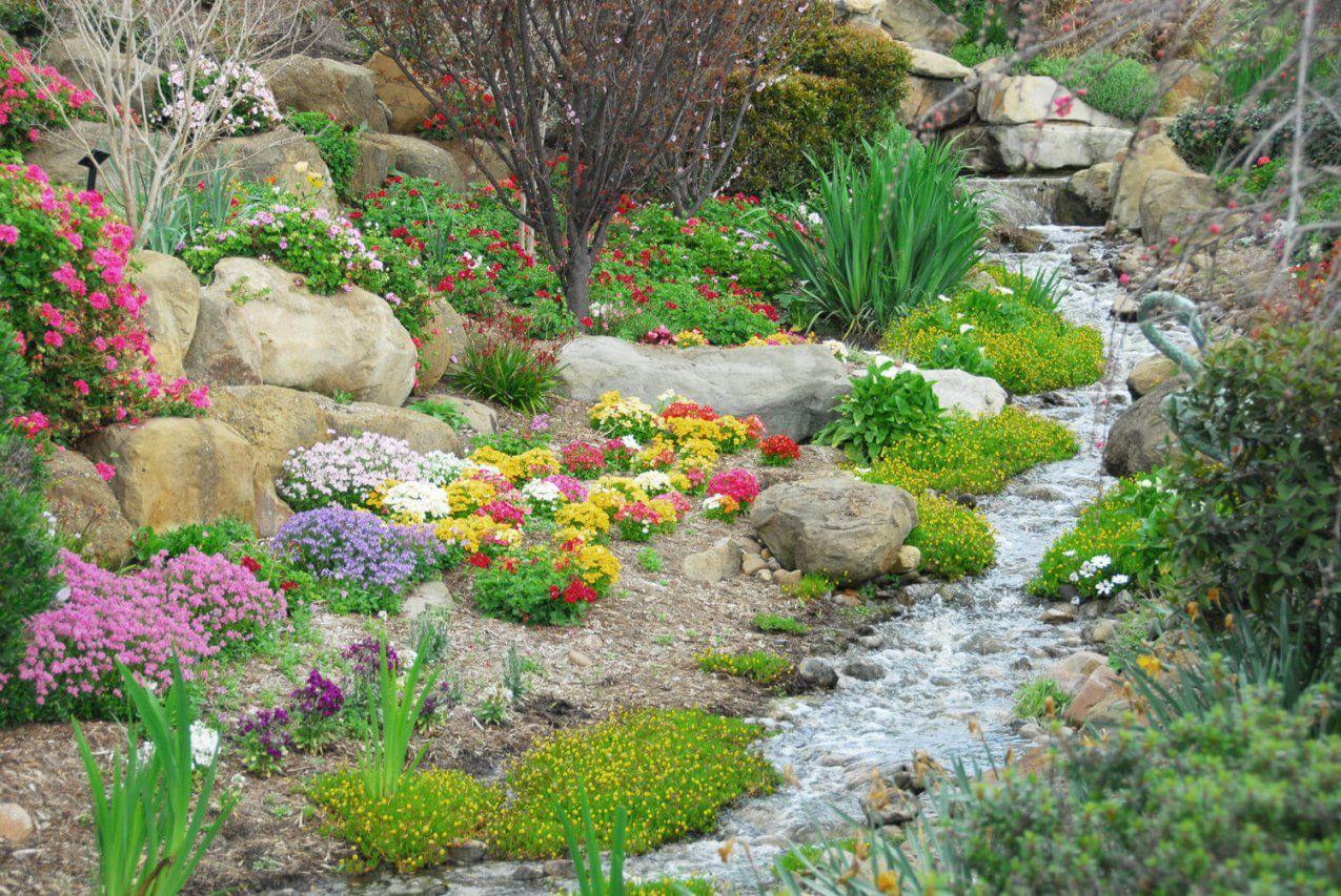 Ob Reißend Oder Langsam Fließend Wie Man Einen Bachlauf Im Garten von Kleiner Wasserlauf Im Garten Photo