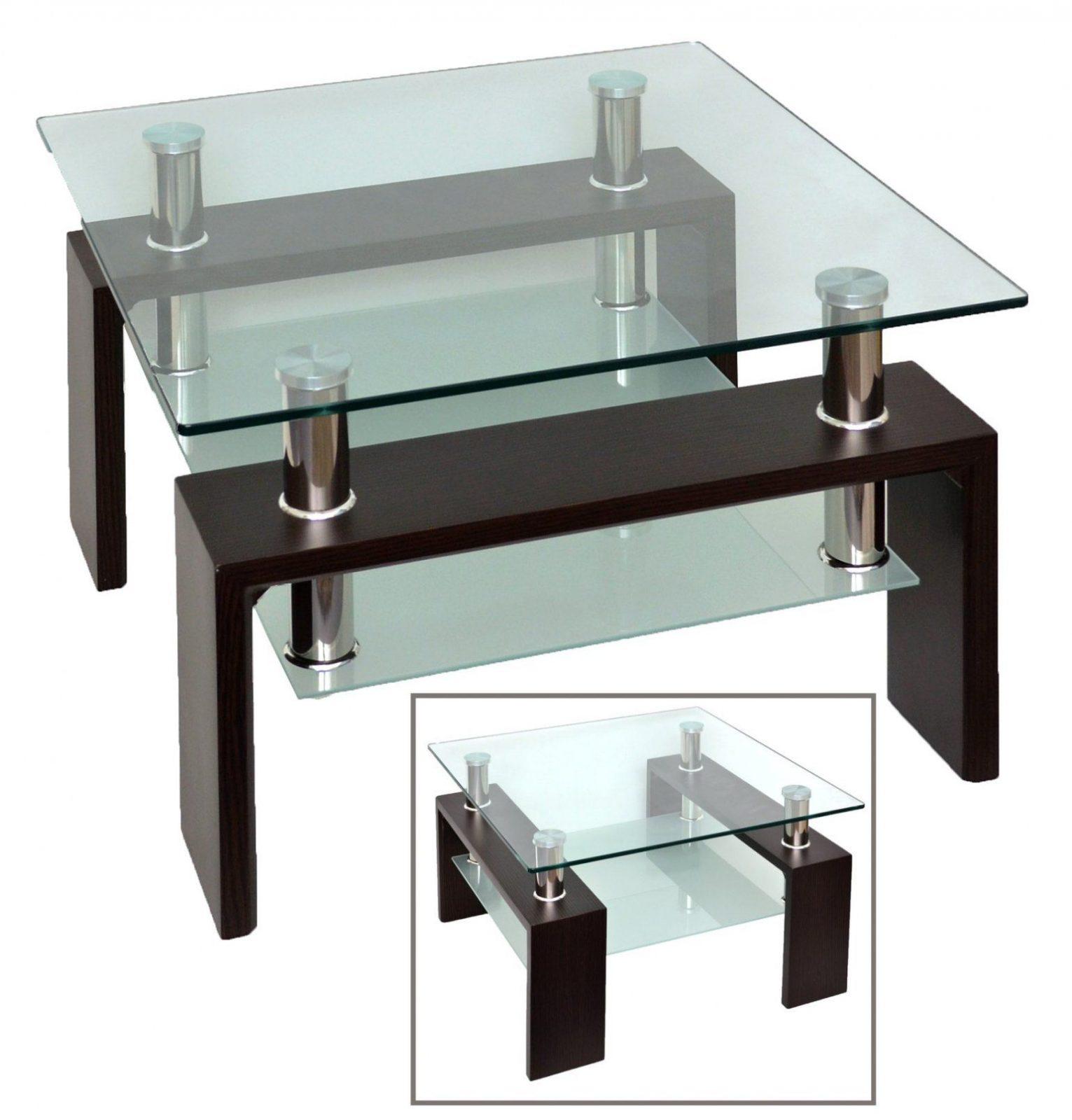 Oben Couchtisch Walnuss 70X70 Cm Couchtische Wohnzimmer Furnier Glas von Couchtisch Glas 70X70 Bild